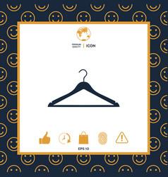 Clothes hanger icon vector