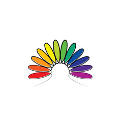 Colorful spectrum leaves rainbow logo vector