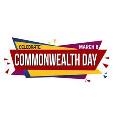 Commonwealth day banner design vector