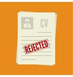 Cv denial resume personal file vector