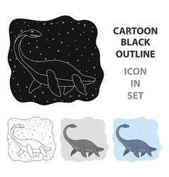 dinosaur tyrannosaurus icon in cartoon style vector image