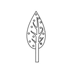 Dotted shape natual and ecological tree vector