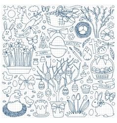 Easter doodle set vector