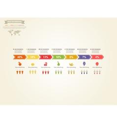 Fruit infographics vector
