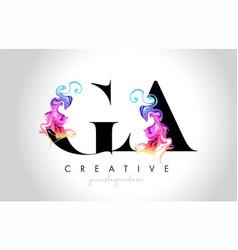 Ga vibrant creative leter logo design with vector