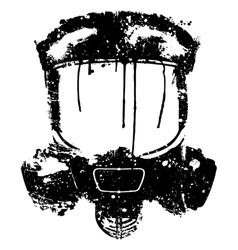 Gas mask splash effect vector