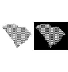 Halftone south carolina state map vector