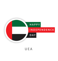 Happy uae independence day template design vector