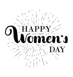 Happy woman s day gift card march 8 hand written vector