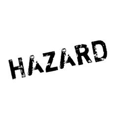 Hazard rubber stamp vector image