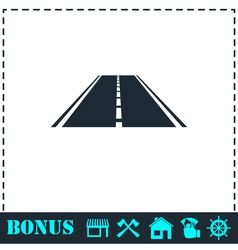 Highway icon flat vector