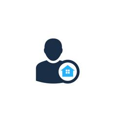 home user logo icon design vector image