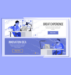 Horizontal banners website design business vector