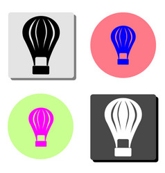 hot air balloon flat icon vector image
