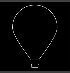 Hot air balloon the white path icon vector