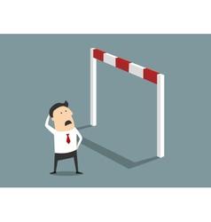 Insurmountable business problem vector