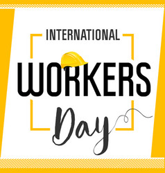 international workers day card vector image