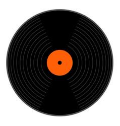 Isolated vinyl icon vector