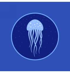 Jellyfish under water icon Marine life vector image