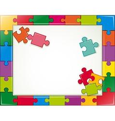 Jigsaw frame vector
