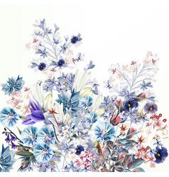 light floral spring and summer vector image