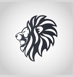 lion head icon logo vector image