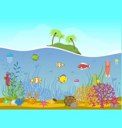 marine world background vector image