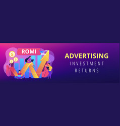 Marketing investment concept banner header vector