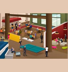 modern office scene vector image
