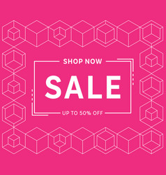 Modern trendy sale banner template design vector