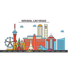 Nevada las vegascity skyline architecture vector