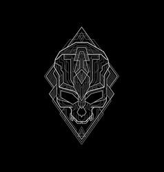 new geometry skull line vector image