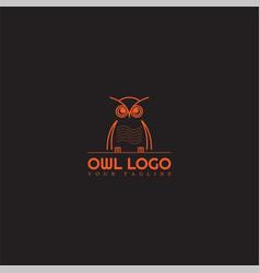 owl logo template modern logo for business vector image