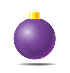 purple christmas ball 01 vector image