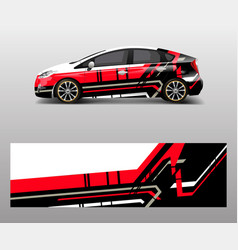 Racing car wrap abstract strip shapes for car vector