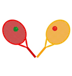 rackets for tennis vector image
