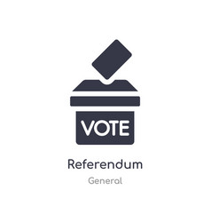 Referendum icon isolated referendum icon from vector