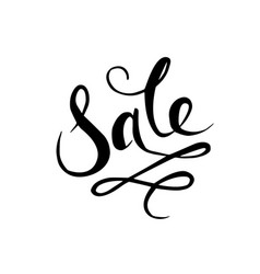 sale hand drawn calligraphy and brush pen vector image