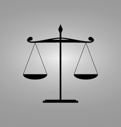 Scales balance - icon vector