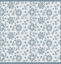 Seamless pattern background with abstract blue vector