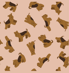 Seamless pattern with cute terriers graphics vector