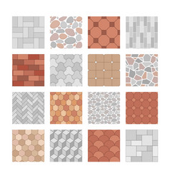 seamless paving stone and brick pattern vector image