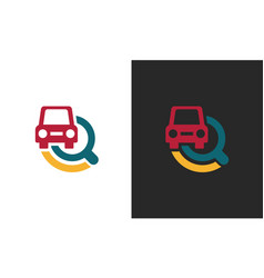 search car technology logo vector image