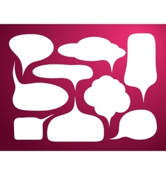 set bubble icon vector image