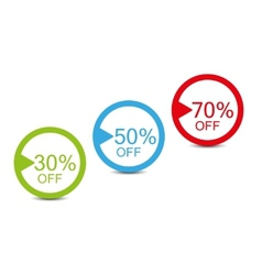 shopping simple tags vector image vector image