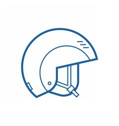 Snowboarding Helmet Line Icon vector