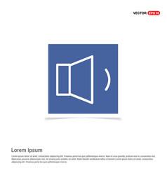 Sound volume icon - blue photo frame vector