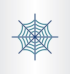 spider web target icon design vector image