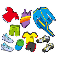 Sport clothes collection vector