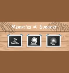 Summer design template for your photos vector
